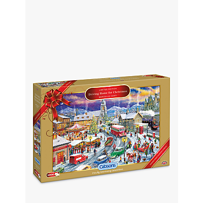 Gibsons Driving Home for Christmas Jigsaw Puzzle, 1000 Piece